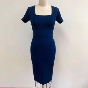 A.L.C. heavy knit bodycon royal blue dress